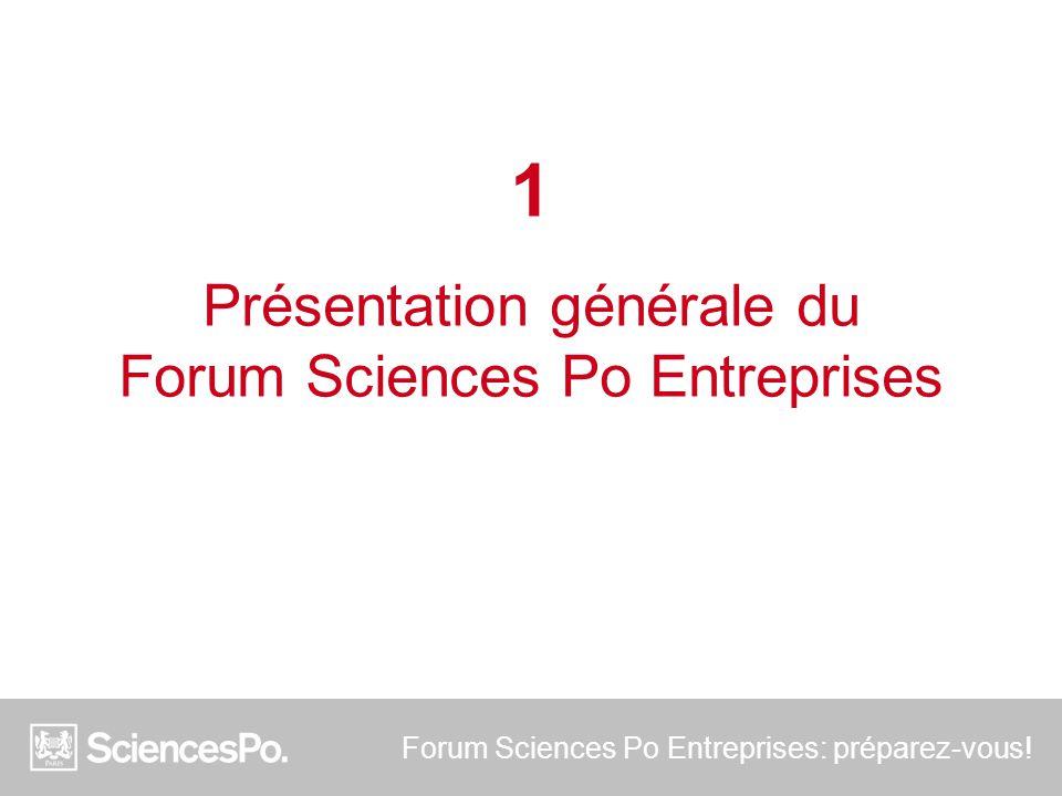 Présentation générale du Forum Sciences Po Entreprises