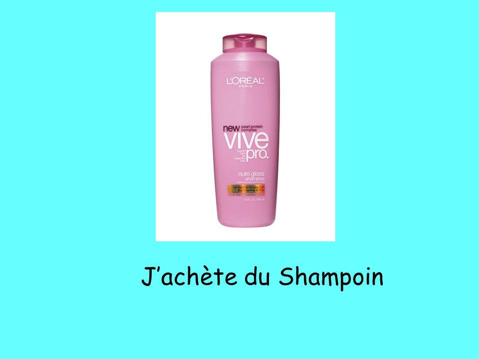 J'achète du Shampoin