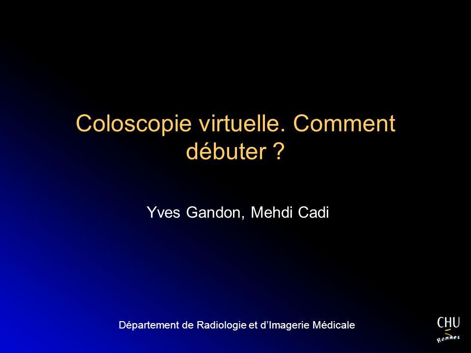 Coloscopie virtuelle. Comment débuter