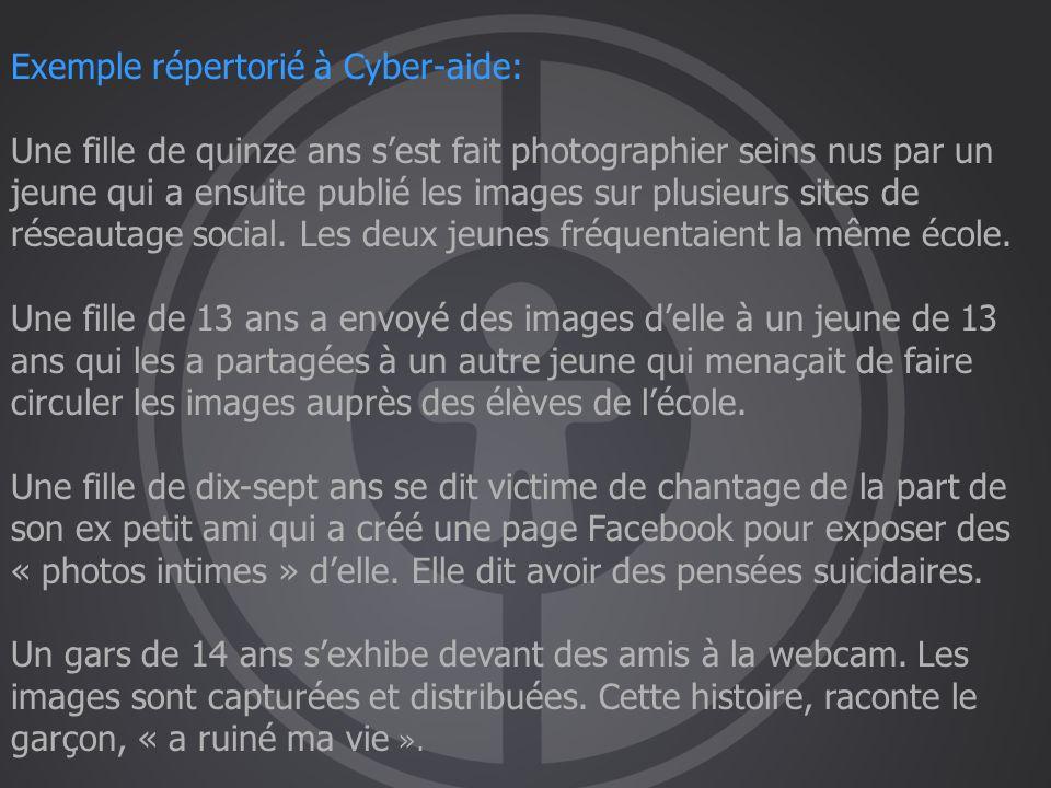 Exemple répertorié à Cyber-aide: