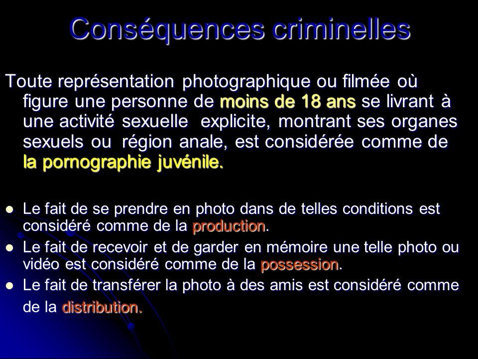 Conséquences criminelles