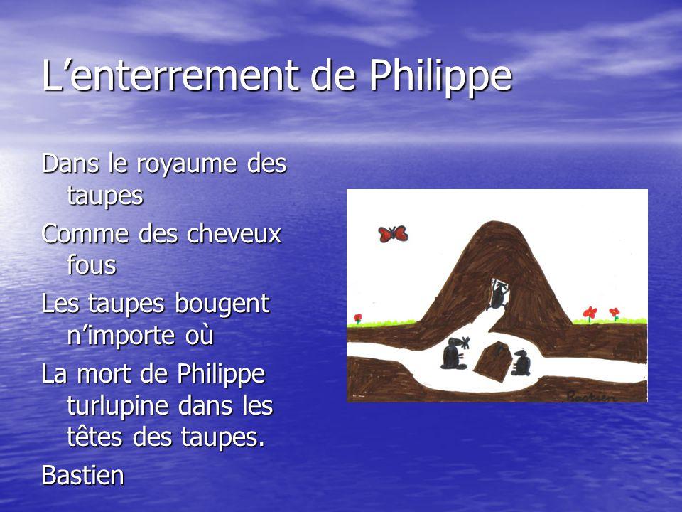 L'enterrement de Philippe