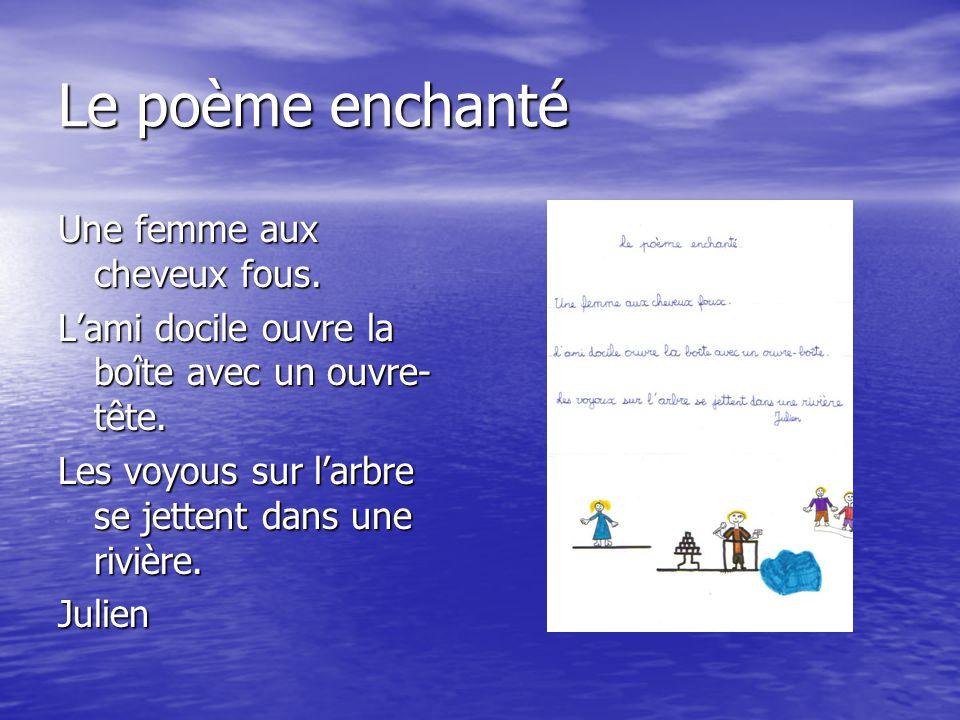 Le poème enchanté Une femme aux cheveux fous.