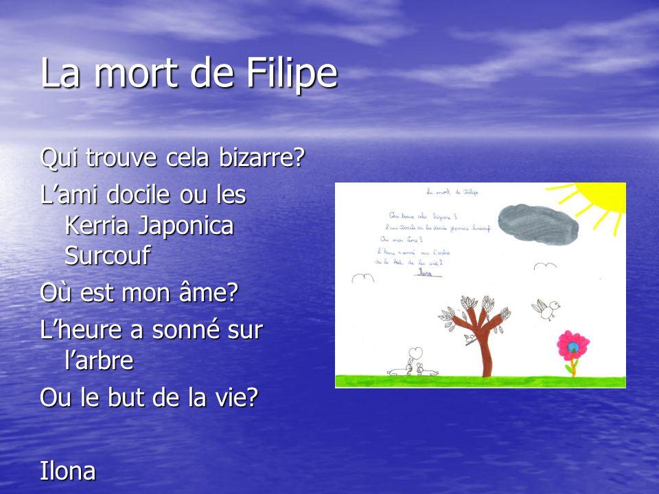 La mort de Filipe Qui trouve cela bizarre
