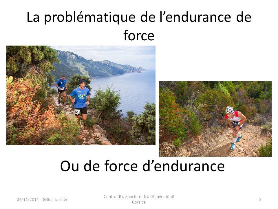 La problématique de l'endurance de force