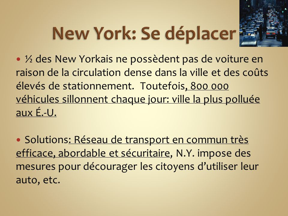 New York: Se déplacer
