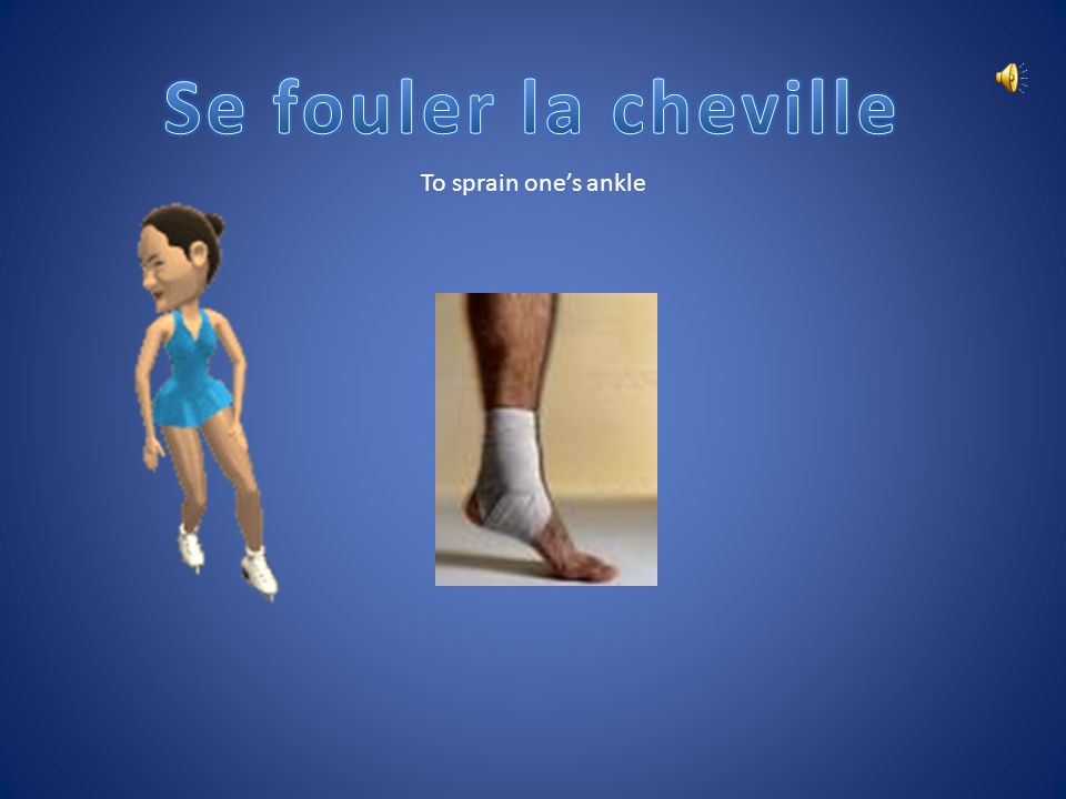 Se fouler la cheville To sprain one's ankle