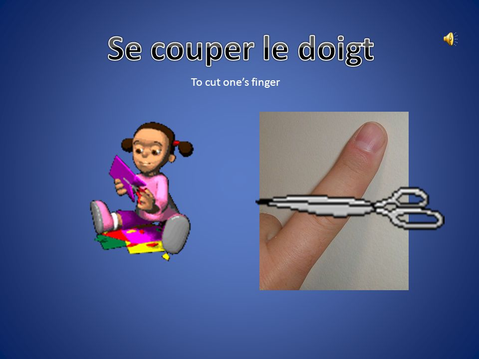 Se couper le doigt To cut one's finger