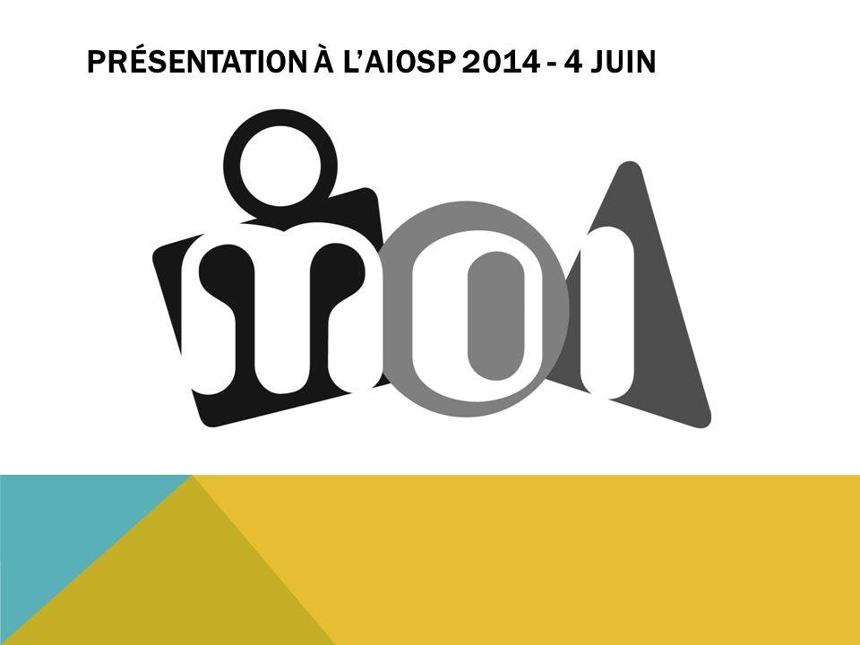 Présentation à L'AIOSP 2014 - 4 juin