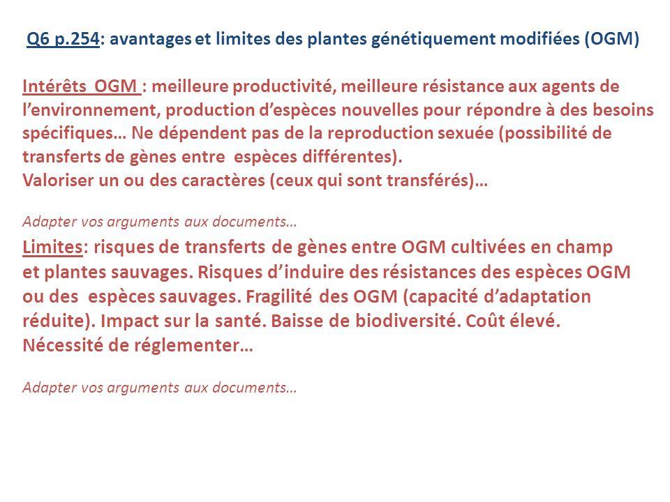 Limites: risques de transferts de gènes entre OGM cultivées en champ