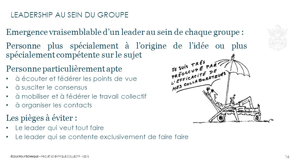 LEAdership au sein du groupe