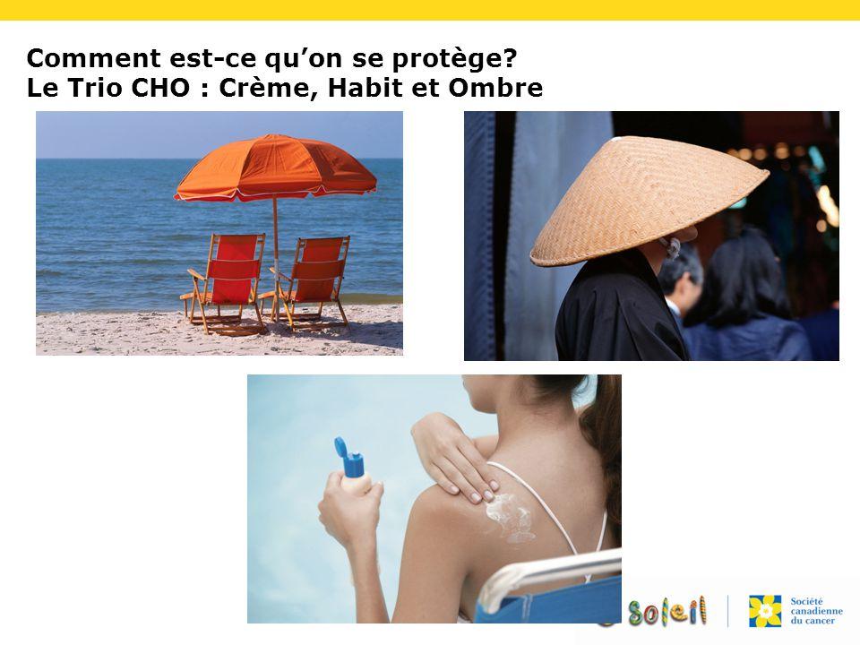Comment est-ce qu'on se protège Le Trio CHO : Crème, Habit et Ombre