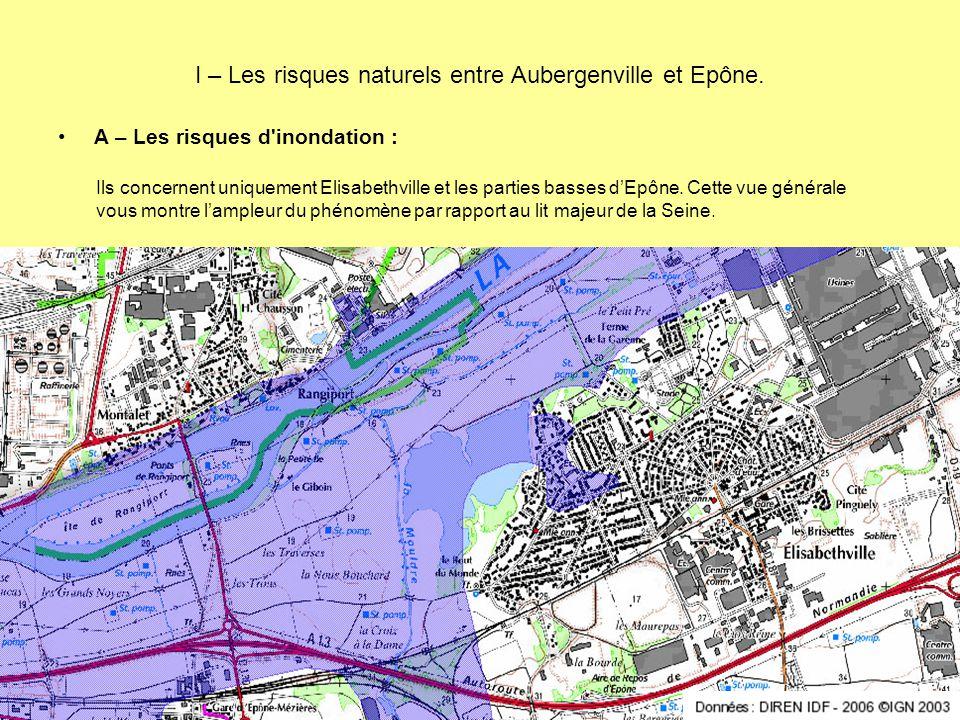 I – Les risques naturels entre Aubergenville et Epône.