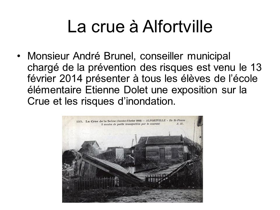 La crue à Alfortville