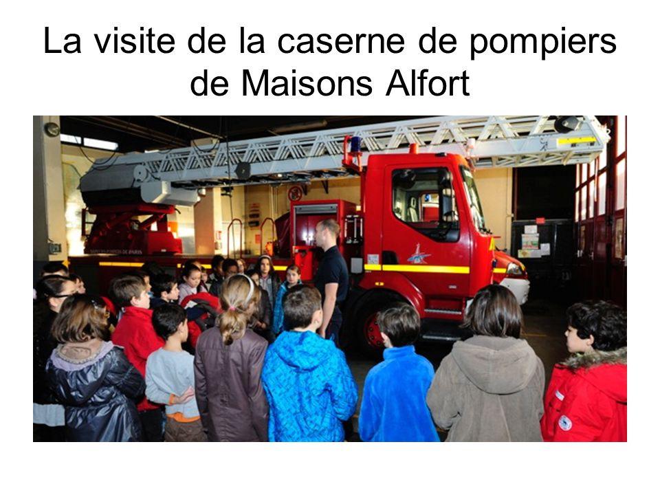 La visite de la caserne de pompiers de Maisons Alfort