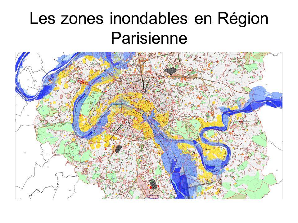 Les zones inondables en Région Parisienne