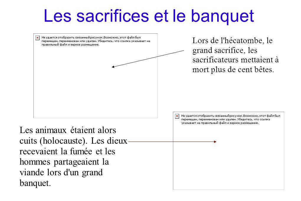 Les sacrifices et le banquet