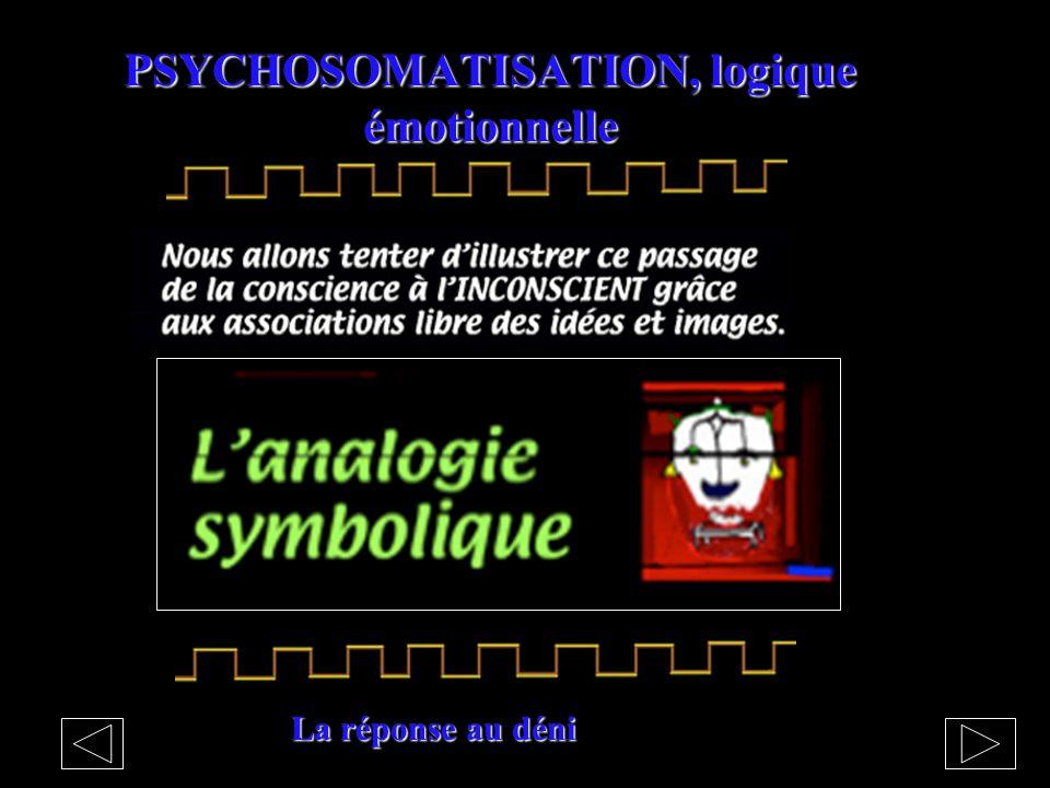 PSYCHOSOMATISATION, logique émotionnelle