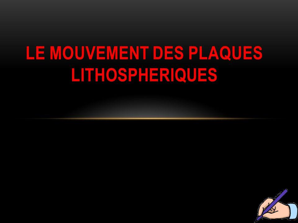 Le mouvement des plaques lithospheriques