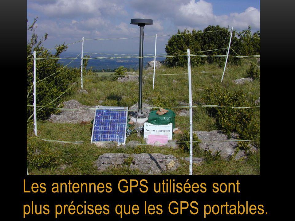 Les antennes GPS utilisées sont plus précises que les GPS portables.