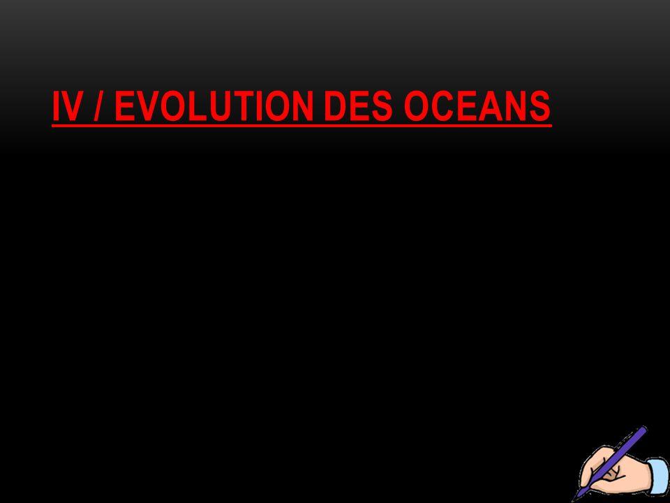 Iv / evolution des oceans