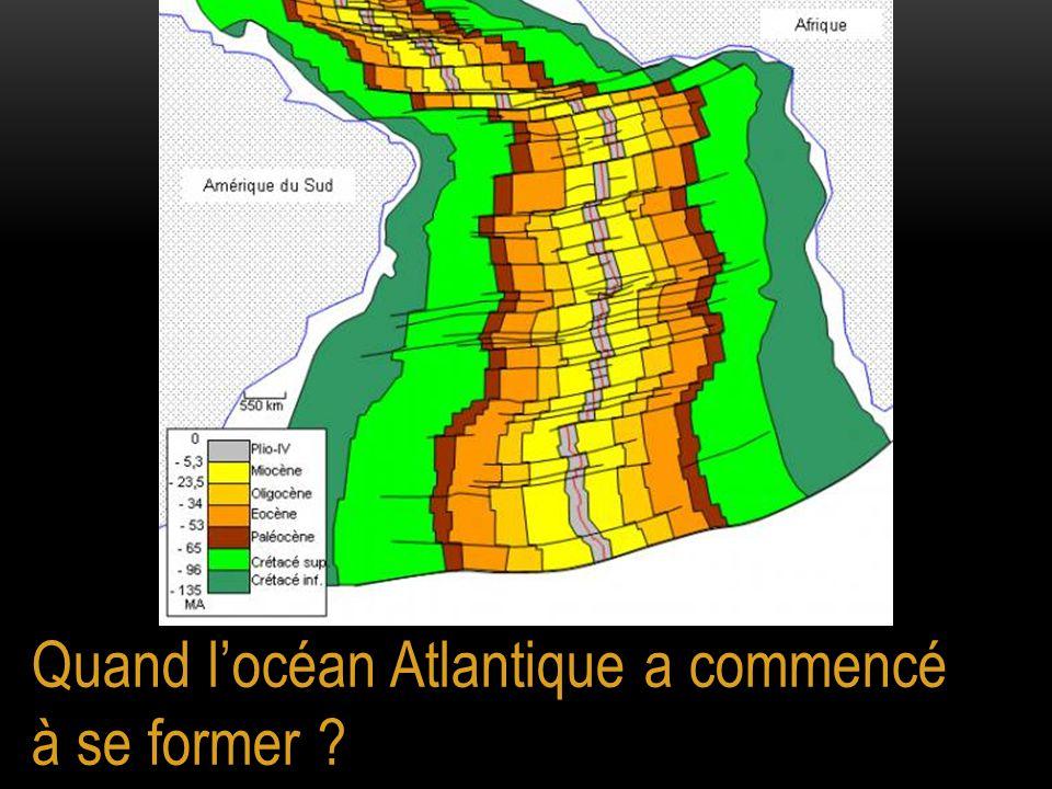 Quand l'océan Atlantique a commencé à se former
