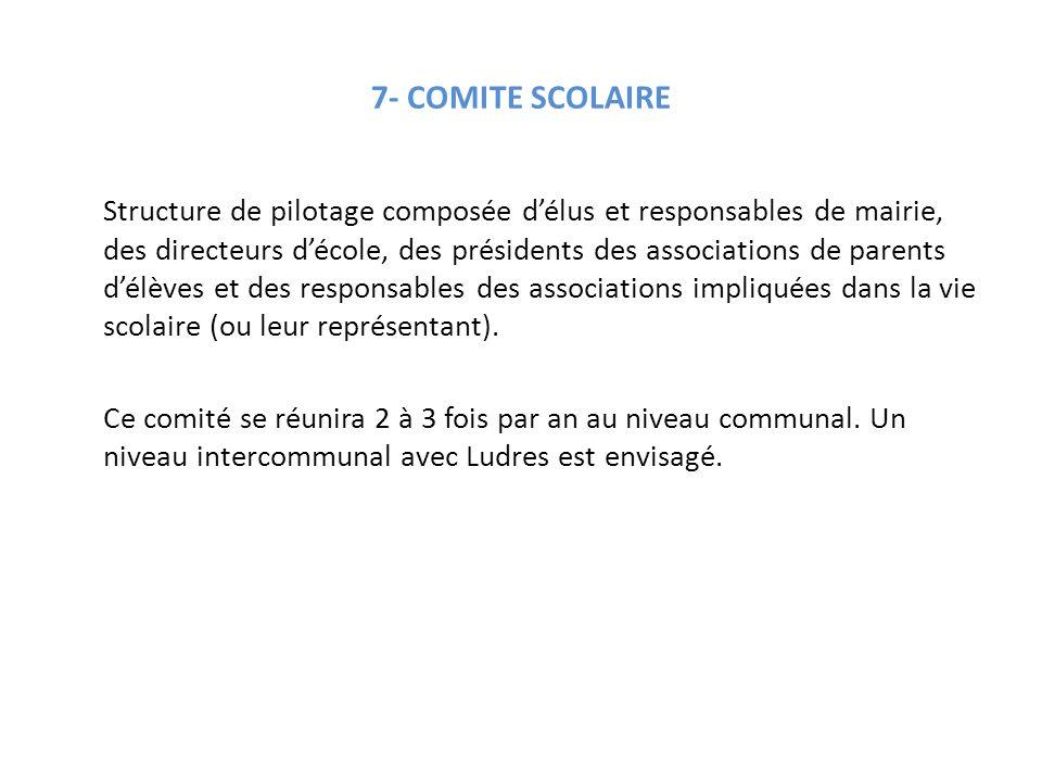 7- COMITE SCOLAIRE