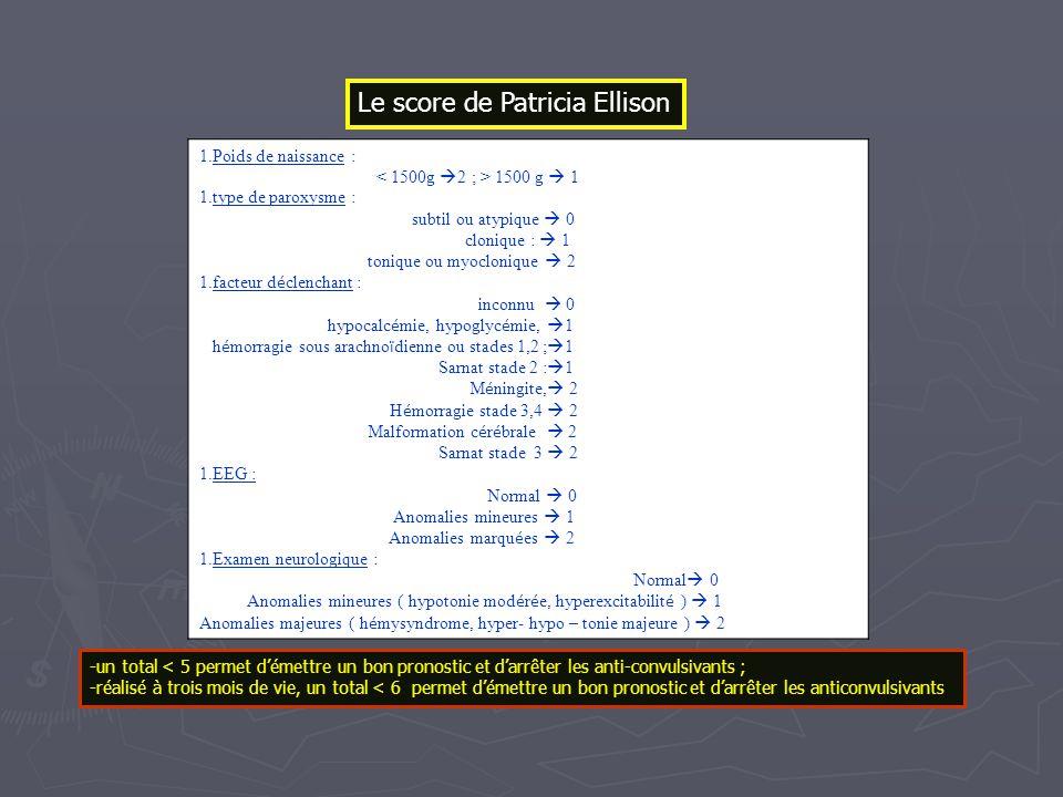Le score de Patricia Ellison