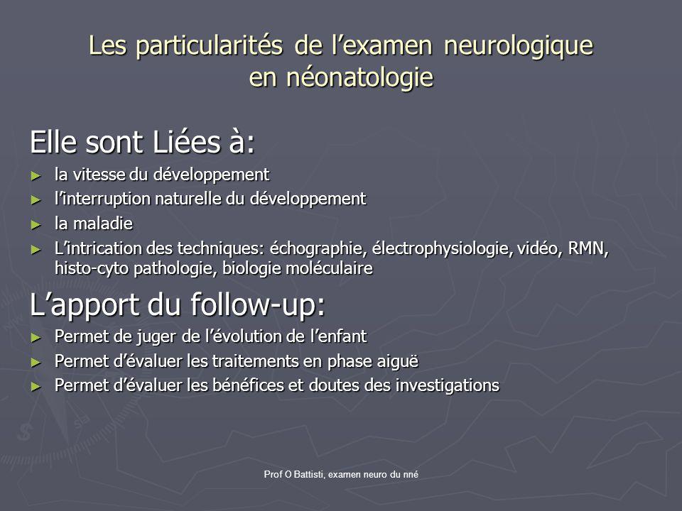 Les particularités de l'examen neurologique en néonatologie