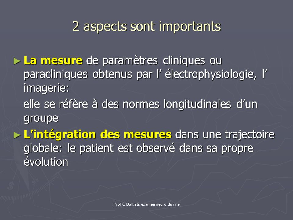2 aspects sont importants
