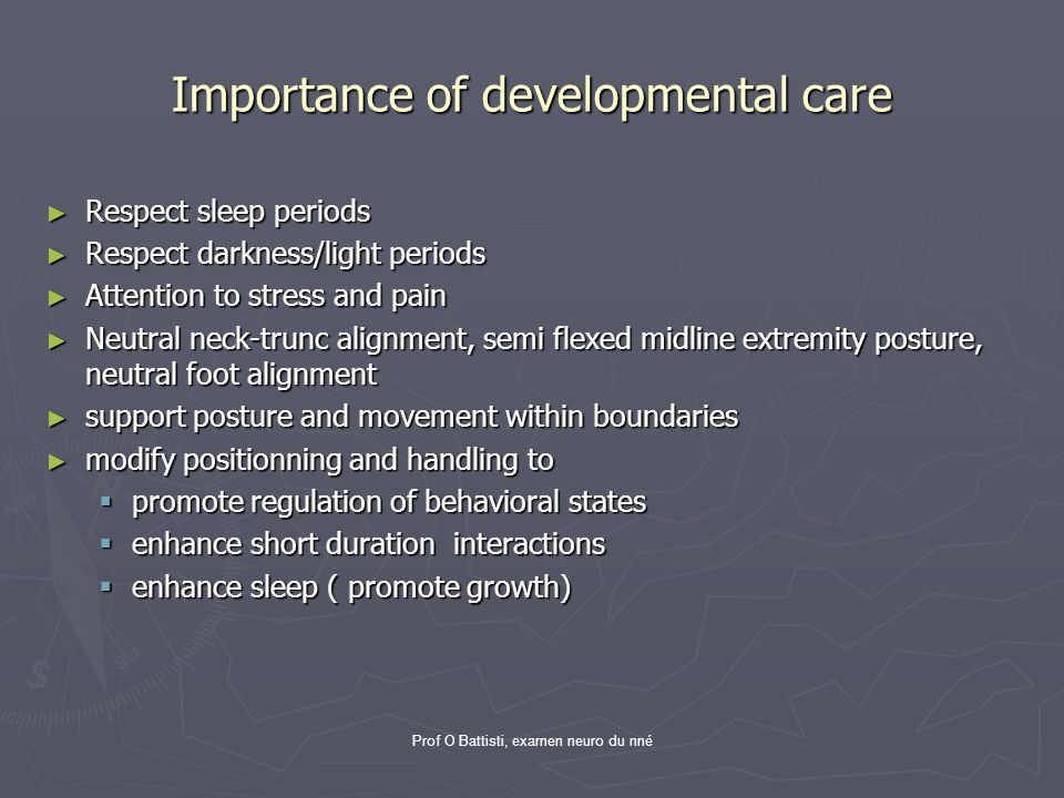 Importance of developmental care