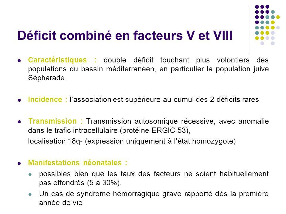 Déficit combiné en facteurs V et VIII