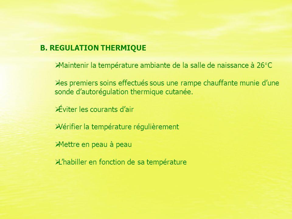 B. REGULATION THERMIQUE