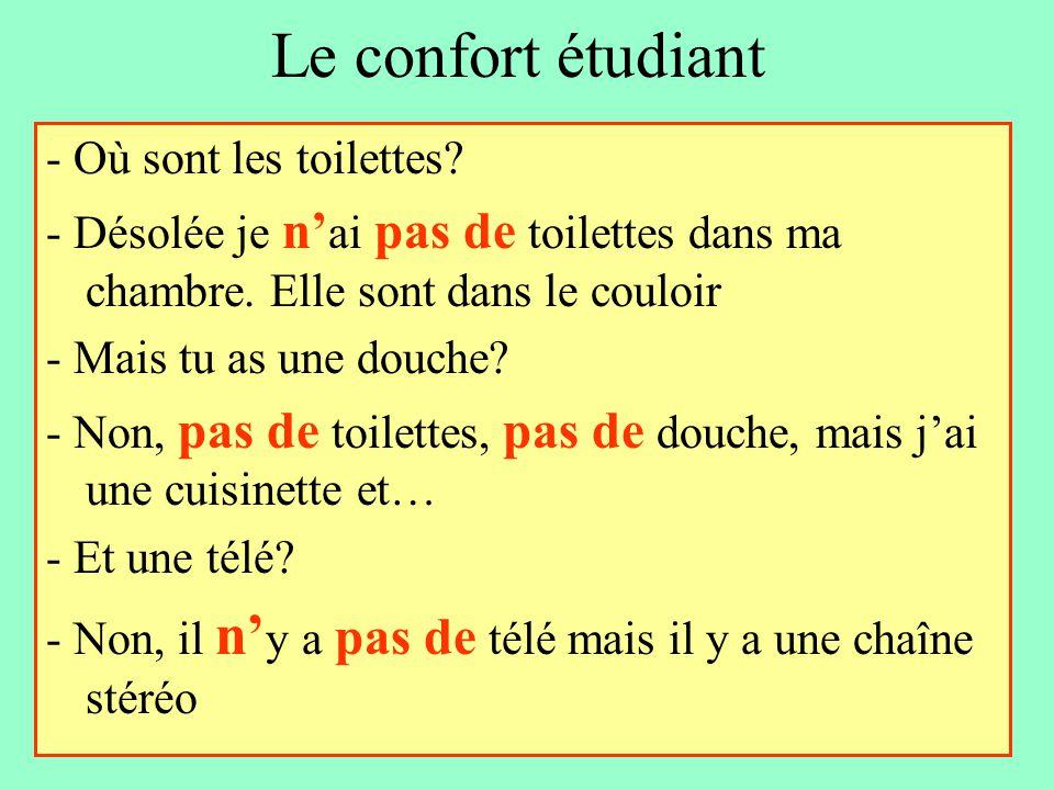 Le confort étudiant - Où sont les toilettes