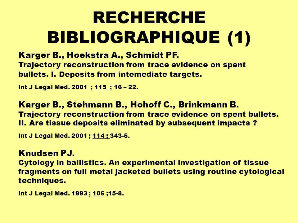 RECHERCHE BIBLIOGRAPHIQUE (1)