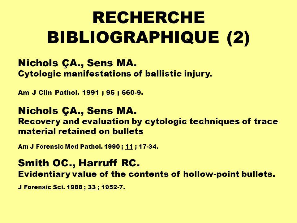 RECHERCHE BIBLIOGRAPHIQUE (2)