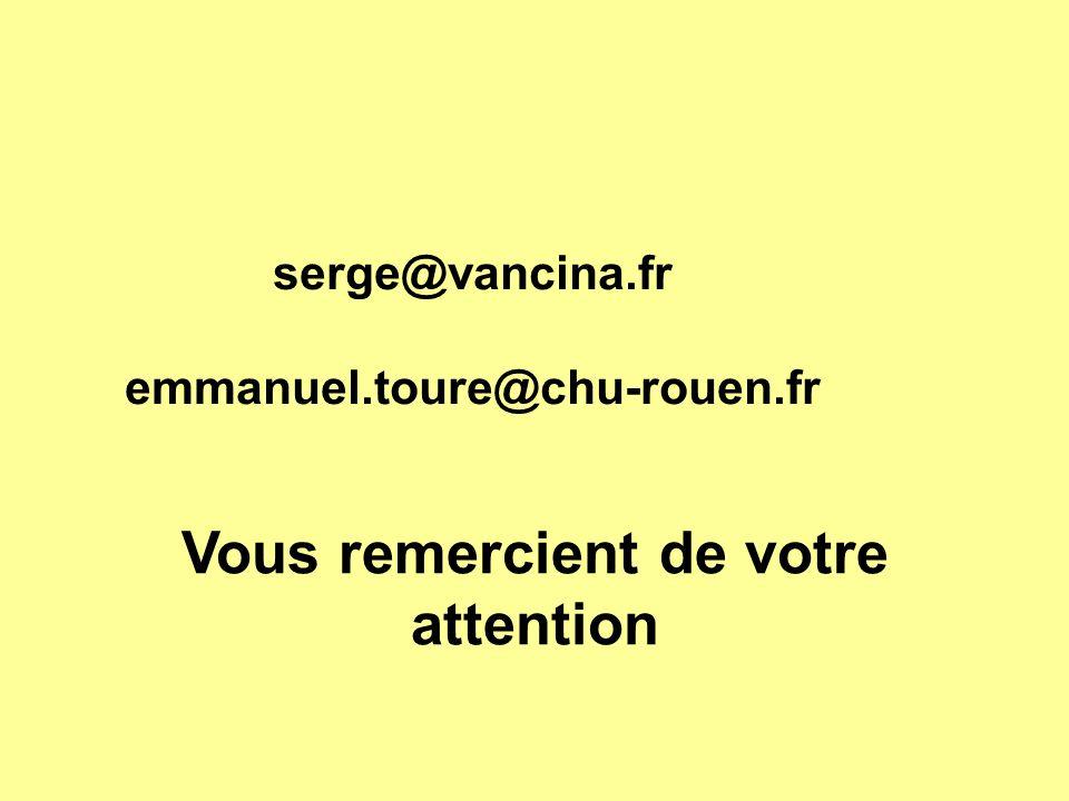 serge@vancina.fr emmanuel.toure@chu-rouen.fr