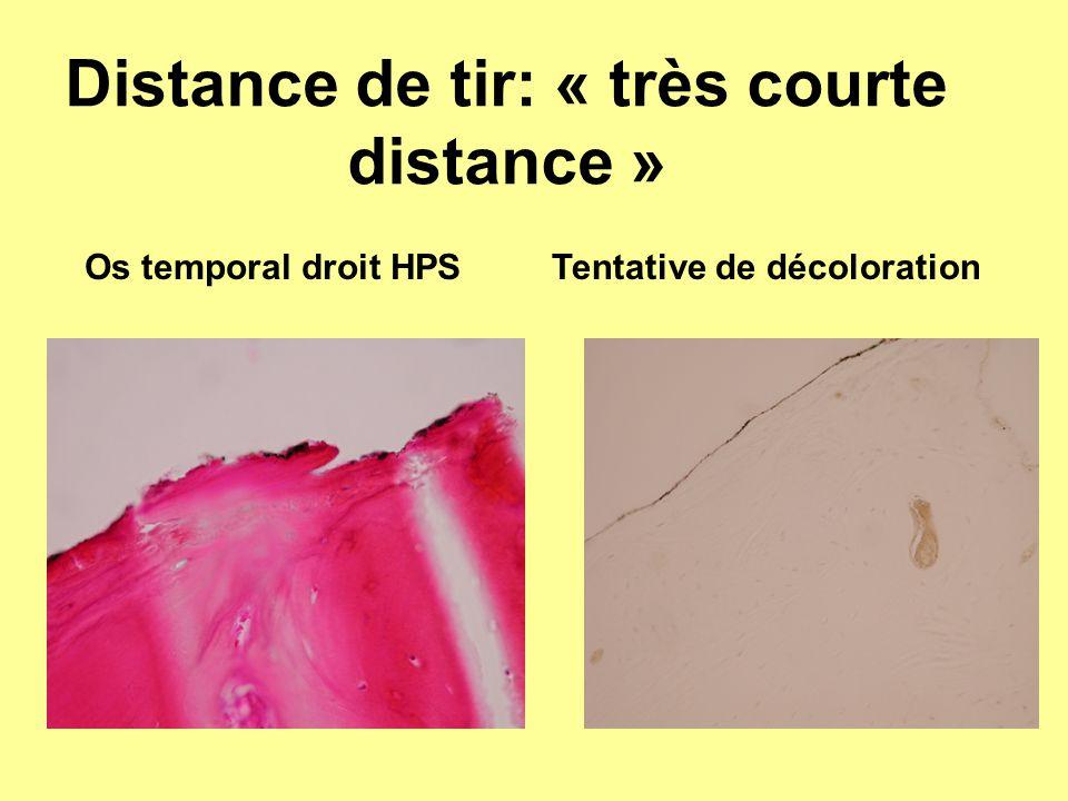 Distance de tir: « très courte distance »
