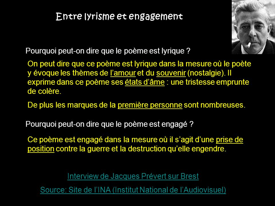Entre lyrisme et engagement