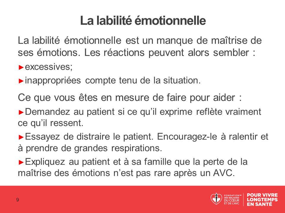 La labilité émotionnelle