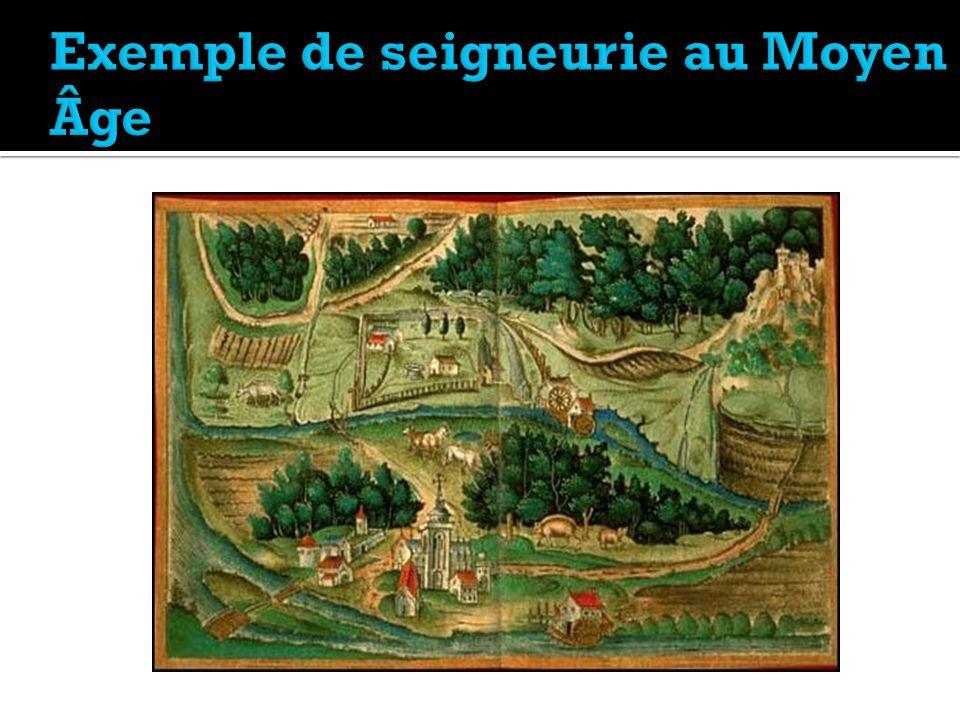 Exemple de seigneurie au Moyen Âge