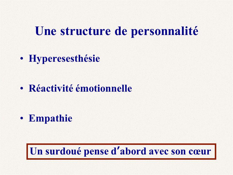 Une structure de personnalité