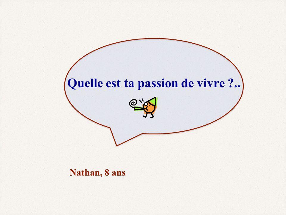 Quelle est ta passion de vivre ..