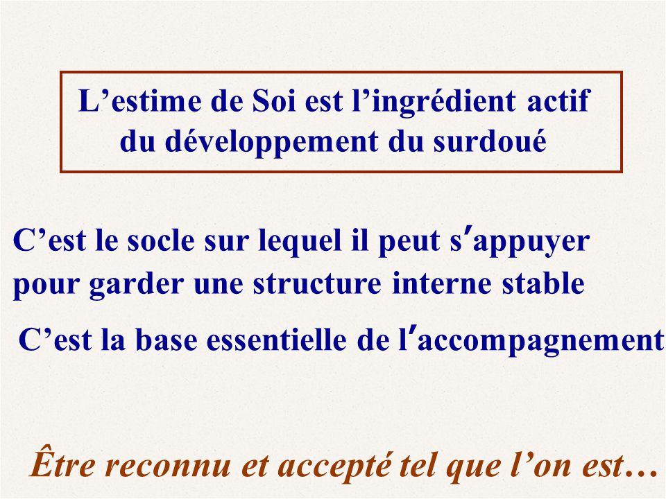 L'estime de Soi est l'ingrédient actif du développement du surdoué