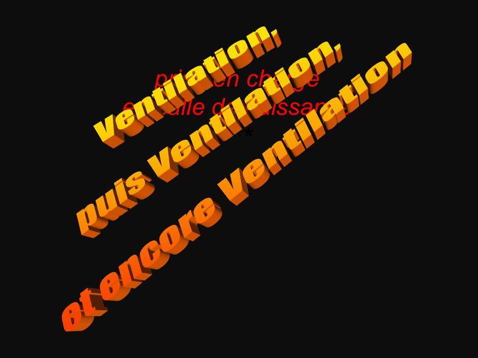Ventilation, puis Ventilation, et encore Ventilation ***