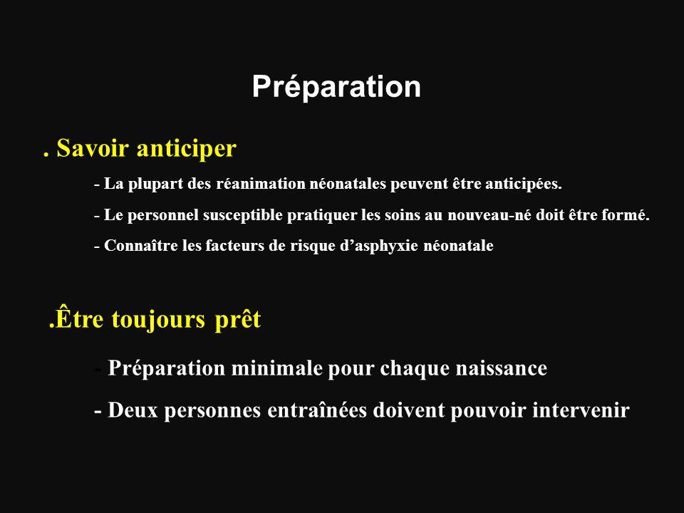 Préparation - Préparation minimale pour chaque naissance