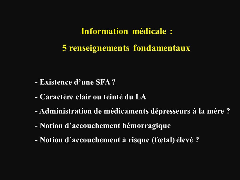 5 renseignements fondamentaux