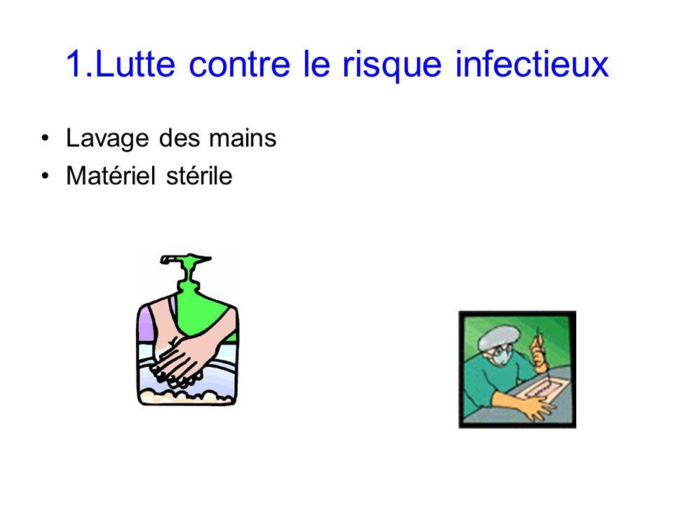 1.Lutte contre le risque infectieux