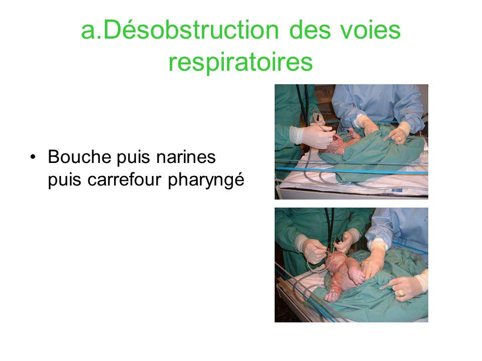 a.Désobstruction des voies respiratoires