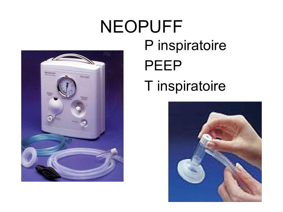 NEOPUFF P inspiratoire PEEP T inspiratoire 32